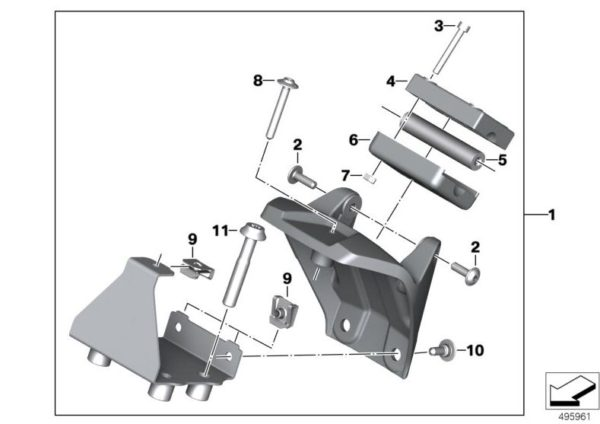 Suport pentru sisteme de navigație BMW Motorrad
